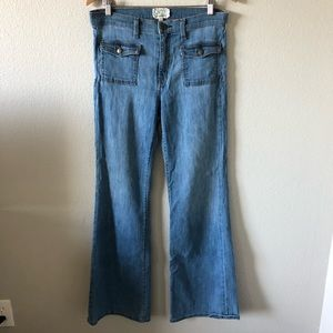 Current/Elliott high waisted flared jeans